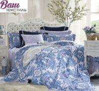 Комплект дизайнерского постельного белья Word of Dream H1852 Гжель Сатин