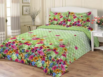 Bedspread ZASTELLI 3793 Calico light green фото 2
