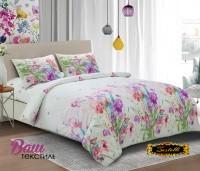 Комплект постельного белья Zastelli S014 Луговые цветы жатка полиэстр