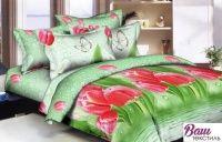 Комплект постельного белья Zastelli 12232 Розовые тюльпаны Микросатин
