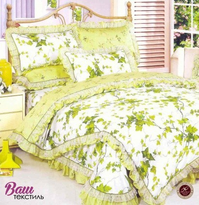 Bed linen set Word of Dream HB157-1 Sateen with frill фото