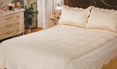 Bedspread silk Zastelli Venice Ivory фото 2