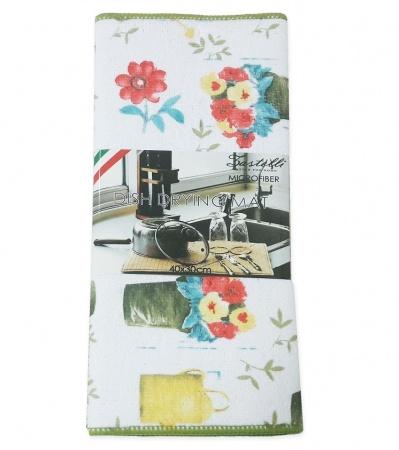 Коврик для сушки посуды ZASTELLI Вазон микрофибра фото 3