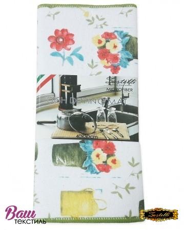 Коврик для сушки посуды ZASTELLI Вазон микрофибра фото