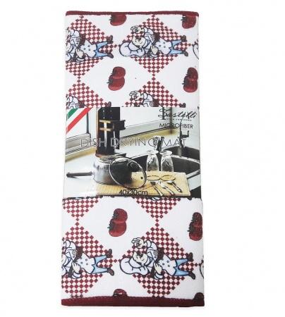Килимок для сушки посуду ZASTELLI Шеф-кухар мікрофібра фото 3