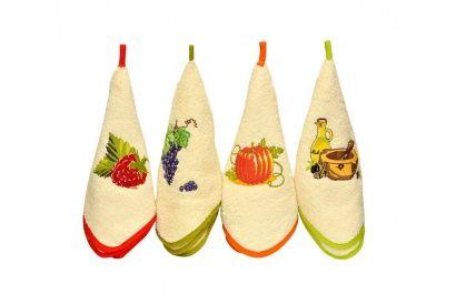 Набор кухонных полотенец Zastelli с вышивкой Овощи (3 шт.) фото 5