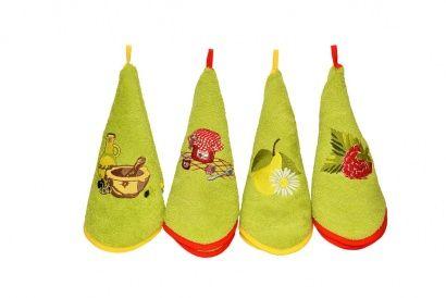 Набор кухонных полотенец Zastelli с вышивкой Овощи (3 шт.) фото 4