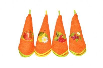 Набор кухонных полотенец Zastelli с вышивкой Овощи (3 шт.) фото 3