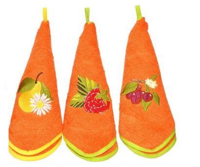 Набор кухонных полотенец Zastelli с вышивкой Овощи (3 шт.) фото 6