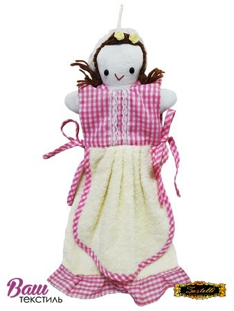 Полотенце кухонное ZASTELLI фигурка Девочка махра фото
