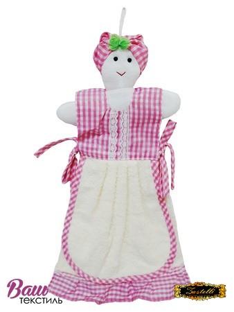 Полотенце кухонное ZASTELLI фигурка Бабка махра фото