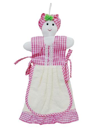 Полотенце кухонное ZASTELLI фигурка Бабка махра фото 2
