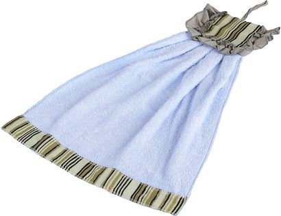 Полотенце кухонное ZASTELLI Платье в полосочку махра фото 6