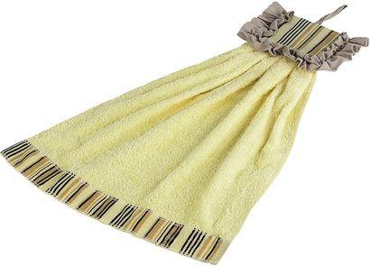 Полотенце кухонное ZASTELLI Платье в полосочку махра фото 5