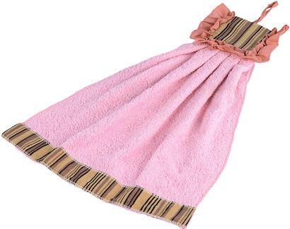 Полотенце кухонное ZASTELLI Платье в полосочку махра фото 4