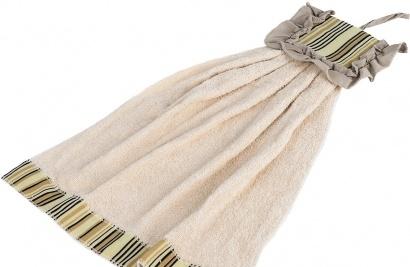 Полотенце кухонное ZASTELLI Платье в полосочку махра фото 3