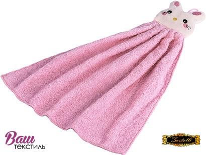 Полотенце кухонное махровое Zastelli Розовый зайчик фото