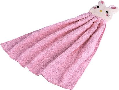Полотенце кухонное махровое Zastelli Розовый зайчик фото 2