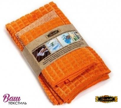Set of napkins for cleaning ZASTELLI microfiber (3 pcs) фото