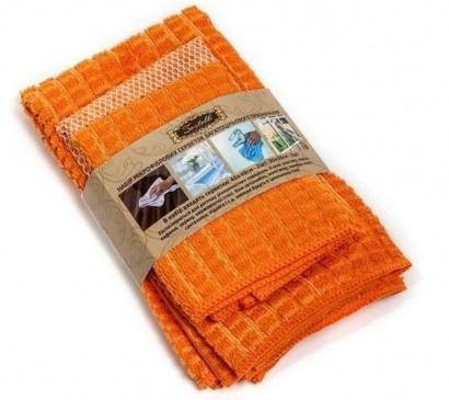Set of napkins for cleaning ZASTELLI microfiber (3 pcs) фото 2