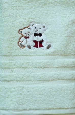 Детское полотенце с вышивкой ZASTELLI Медвежонок махра фото 3