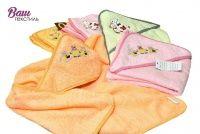 Детское пляжное полотенце с капюшоном Zastelli Медвежонок с вышивкой