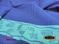 Пляжное полотенце ZASTELLI Ракушки вафельное фото