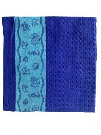 Пляжное полотенце ZASTELLI Ракушки вафельное фото 3