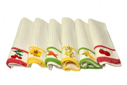 Kitchen waffle towel with embroidery ZASTELLI  фото 4