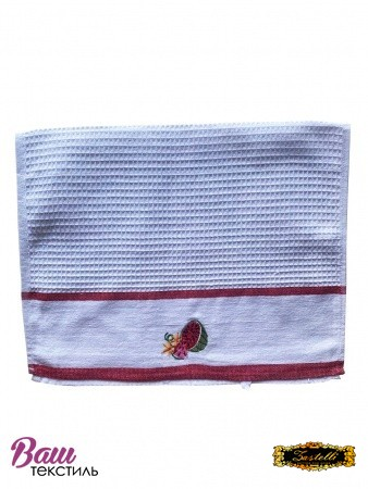 Kitchen waffle towel with embroidery ZASTELLI  фото