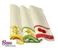 Набор кухонных вафельных полотенец с вышивкой Zastelli (3 шт.)