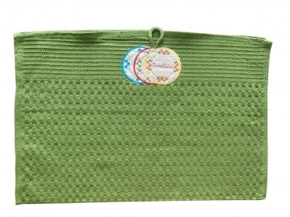Рушник кухонний ZASTELLI Зелений вафельний фото 3