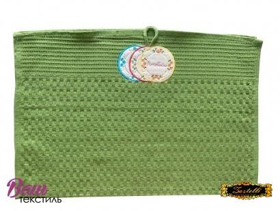 Рушник кухонний ZASTELLI Зелений вафельний фото