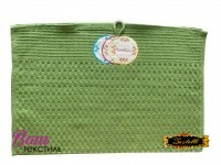 Полотенце кухонное ZASTELLI Зеленое вафельное фото