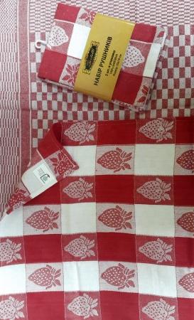 Kitchen towels set Zastelli Jacquard Strawberry (2 pcs) фото 2