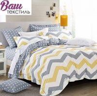 Комплект дизайнерского постельного белья Word of Dream FHX127 Графический орнамент Сатин