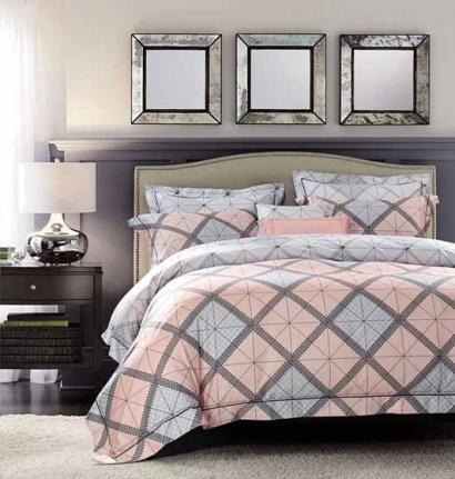Дизайнерское постельное белье Word of Dream FHX138 Геометрически узор Сатин фото 2
