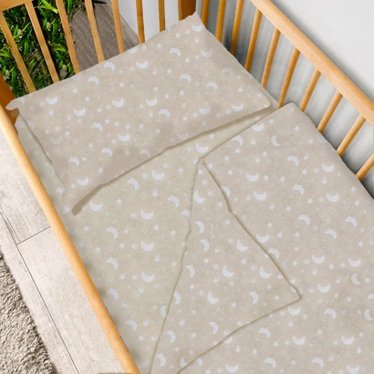 Детское постельное белье Zastelli 0488 Звезды и луна бязь  фото 3