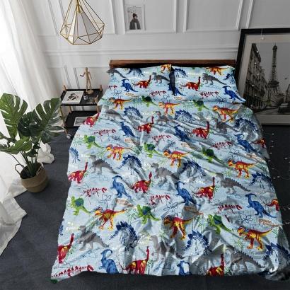 Постільна білизна Zastelli 14638 Динозаврики бязь фото 2