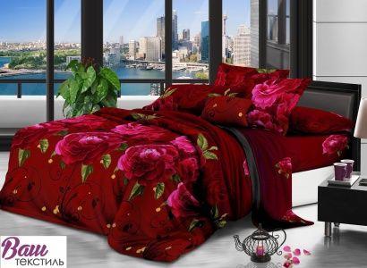 Комплект постельного белья Zastelli 0059 Красные розы Микросатин фото