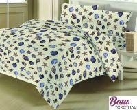 Комплект постельного белья Zastelli 8431 Ракушки хлопок
