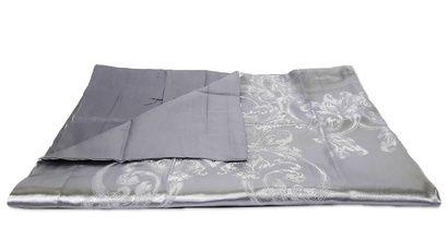 Комплект постельного белья Word of Dream JQ37 Серебро Жаккард фото 4