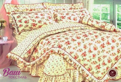 Bed linen set Word of Dream HB026 Sateen with frill фото