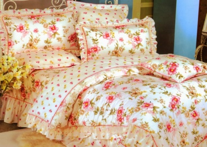 Bed linen set Word of Dream HB305 Sateen with frill фото 2