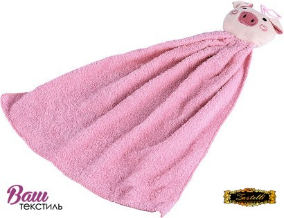 Kitchen terry towel Zastelli Pink pig фото