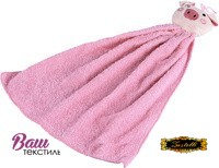 Kitchen terry towel Zastelli Pink pig фото