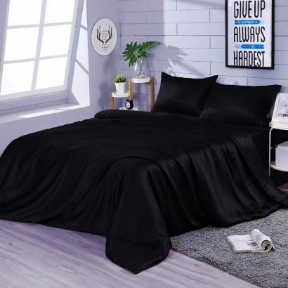 Постільна білизна Zastelli Black шовк чорний фото 2