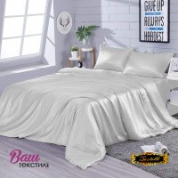 Bed linen set Zastelli White Silk фото