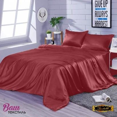 Постільна білизна Zastelli Burgundy шовк червоний фото
