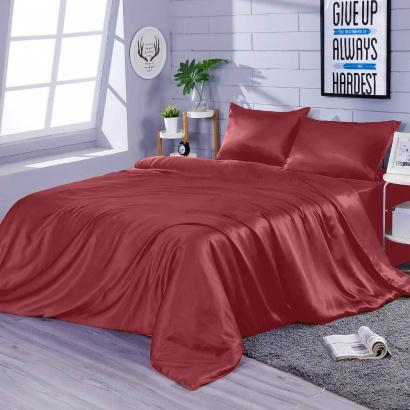 Постільна білизна Zastelli Burgundy шовк червоний фото 2